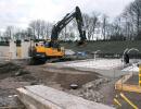 EC220 gräv förberedande grund